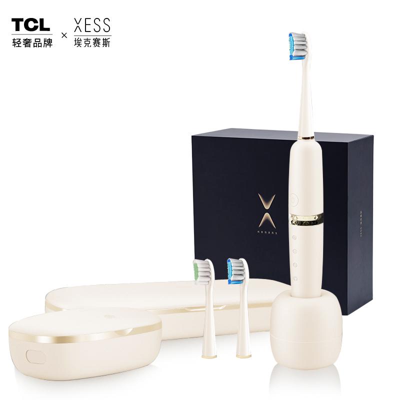 TCL XESS 光波双净智能牙刷D3(套装) 象牙白