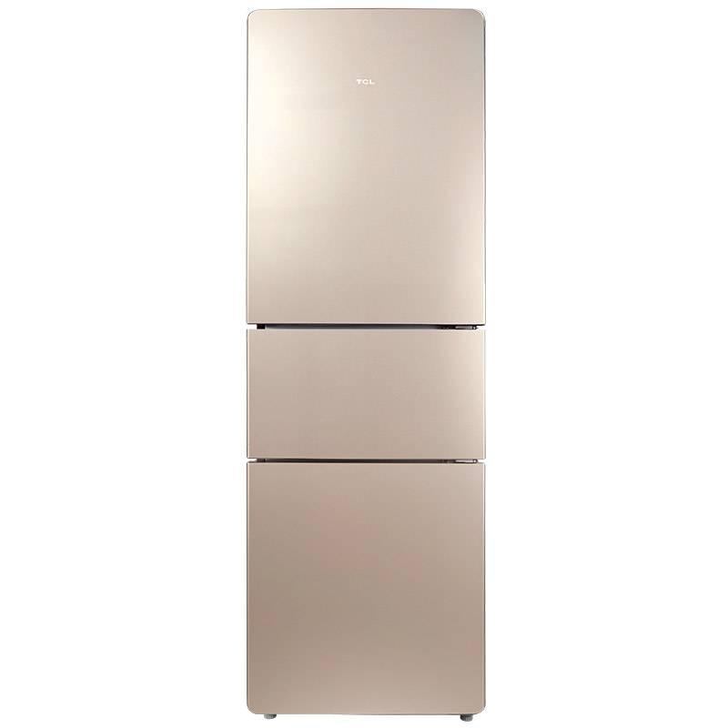 TCL BCD-216TF1流光金 216升<span style='color:red'>三門</span>節能保鮮電冰箱
