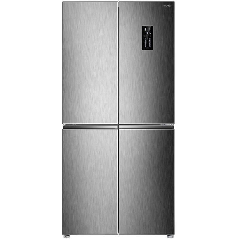 TCL BCD-480WEPZ50典雅银 480升双变频风冷无霜十字对开多门冰箱