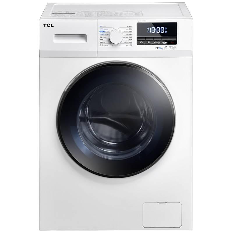 TCL XQG80-R300BD芭蕾白 8公斤变频洗烘一体滚筒洗衣机