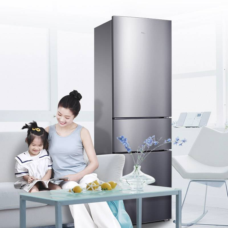 BCD-210TWZ50典雅銀 210升變頻風冷養鮮三門冰箱