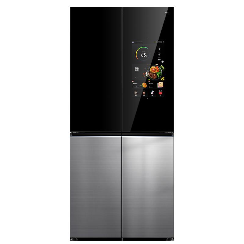 灵悉C12全套系AI家电R510C12-UA  510升十字对开急冷智屏冰箱 极速制冷 膳食管理 21.5寸智屏 33分贝静音